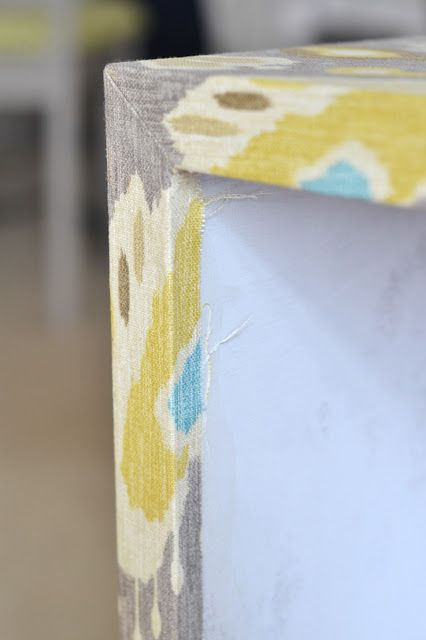 Use polycrylic and an iron to apply fabric to furniture