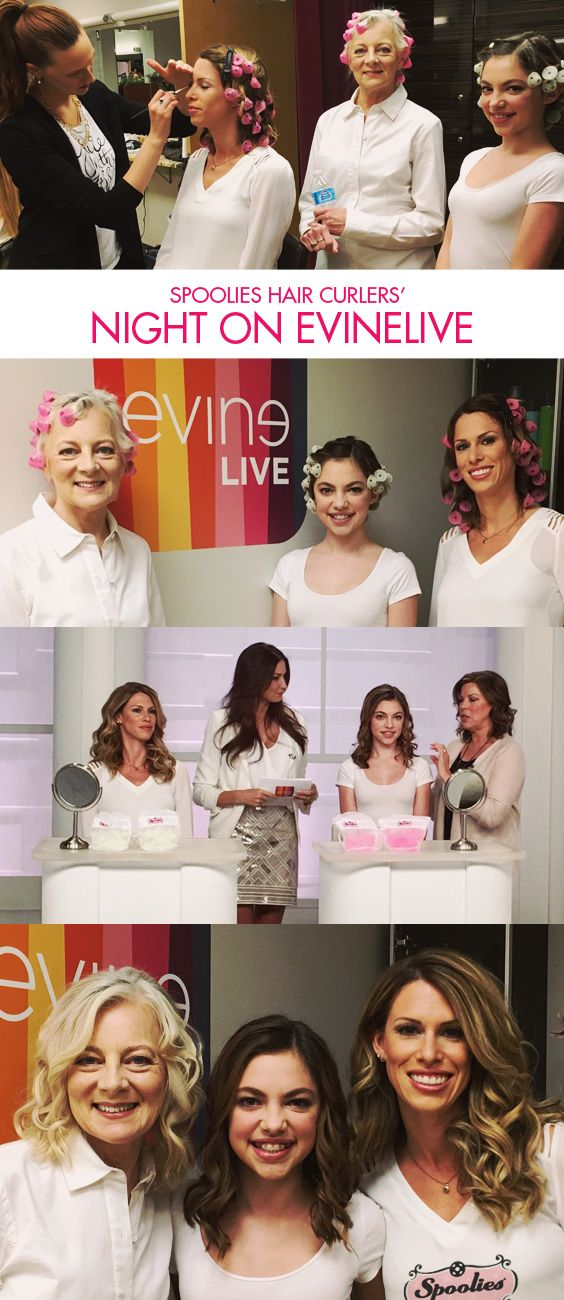 Spoolies Hair Curlers had a great night on the set of EVINELIVE with two airings and awesome reviews! Thanks to our gorgeous models on last night's show! If you missed us on EvineLive, head over to our website for your heatless curlers now!