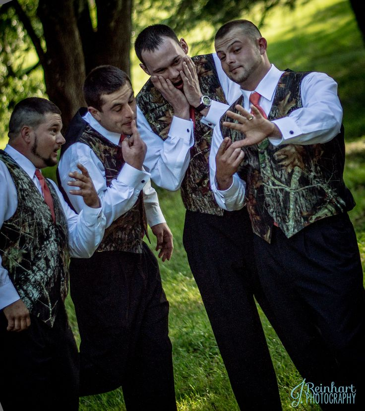 ♡ #Hunting / camo themed pink #wedding #GROOM & GROOMSMEN ♡ For how to organise an entire wedding, within any budget PLUS lots of budget tips and other wedding ideas https://itunes.apple.com/us/app/the-gold-wedding-planner/id498112599?ls=1=8 ♥ THE GOLD WEDDING PLANNER iPhone App ♥  Weddings by Style http://pinterest.com/groomsandbrides/boards/