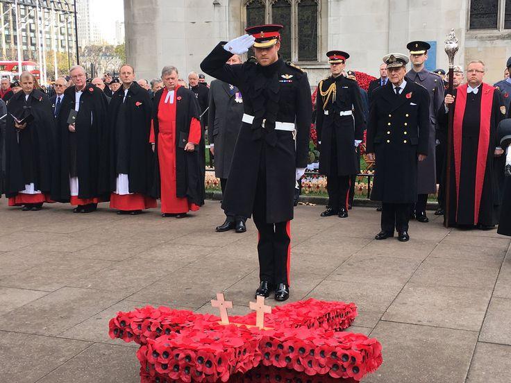 "Westminster Abbey on Twitter: ""The Duke of Edinburgh and Prince Harry plant crosses. #RememberThem"