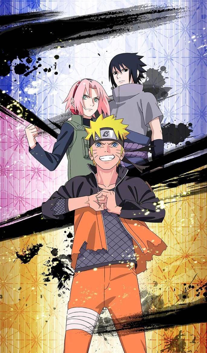 New Team 7 Reunion By Https Www Deviantart Com Dp1757 On Deviantart Naruto Sasuke Sakura Naruto Vs Sasuke Wallpaper Naruto Shippuden