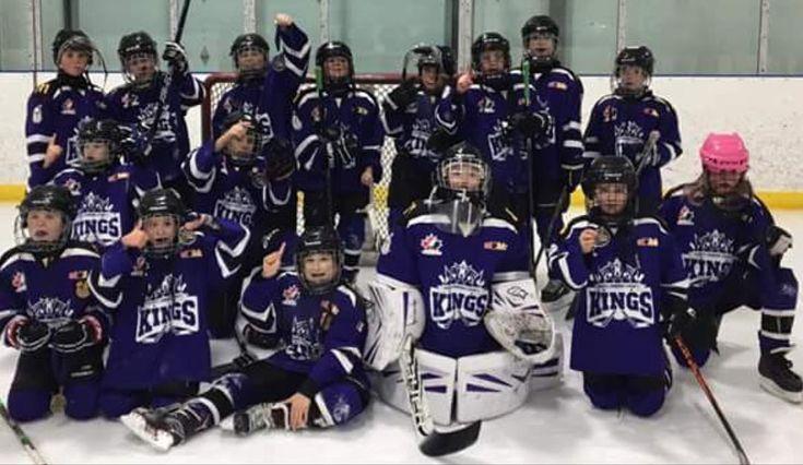 A Champs!!! #peckings #pec #hockey #goaliesonly #blacktapebandits #atomhockey #pecmha #princeedwardcountykings