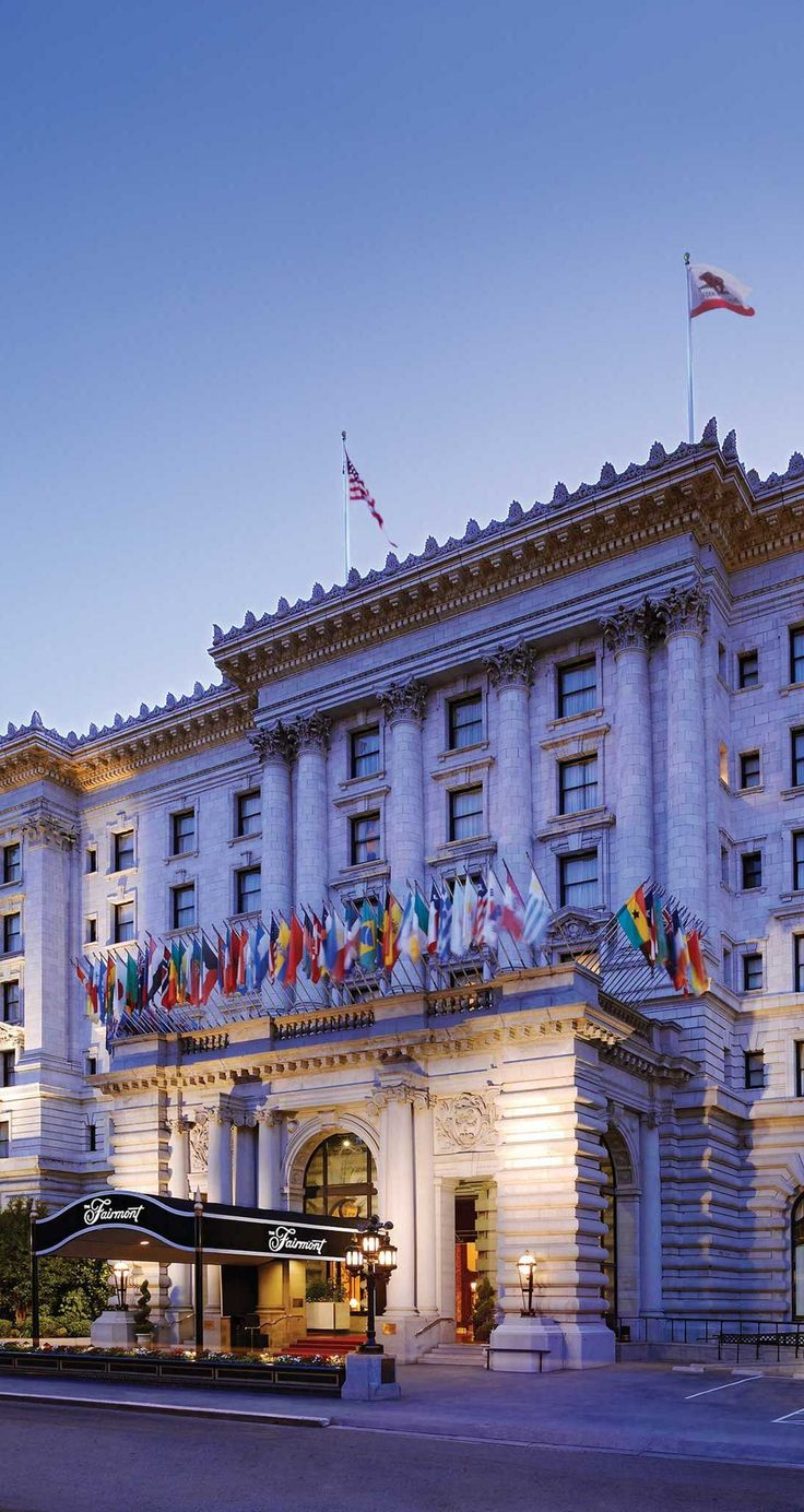 The venerable Fairmont San Francisco is a classic city stay atop Nob Hill.