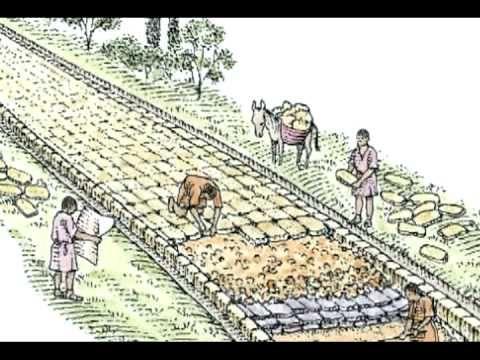 Construction de routes et de ponts par les Romains