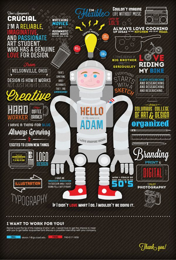 graphic designer resume 2015%0A What an awesome  exciting  new and creative way to put together a CV