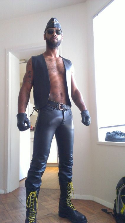 Randy gays in leather