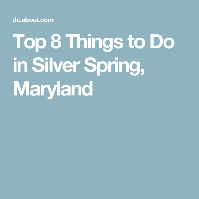 Top 8 Things to Do in Silver Spring, Maryland