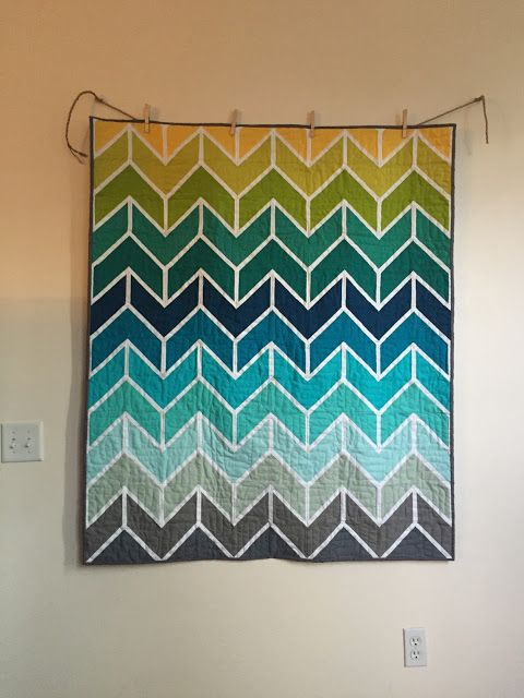 The Creative Side: Colorful Quilt Take Two- Done!!!