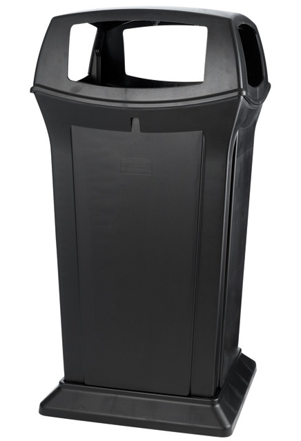 Ranger Container, with 4 Openings: Ranger Containers feature Rubbermaid's famous durability, modern styling and easy-to-service design.