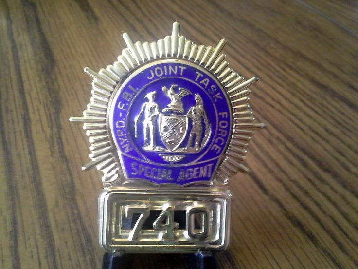 Special Agent, NYPD FBI Joint Task Force Police badge