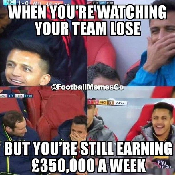 When Youre Watching Your Team Lose But Youre Still Earning 350000 A Week Soccer Funny Funny Soccer Memes Football Funny