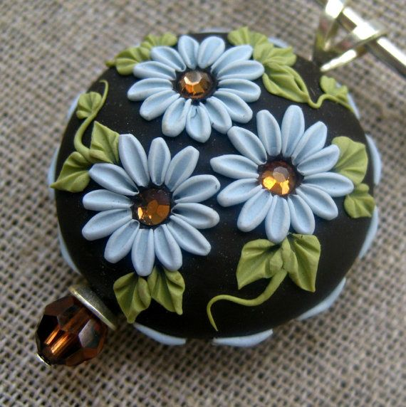 Necklace - Polymer Clay - Flowers