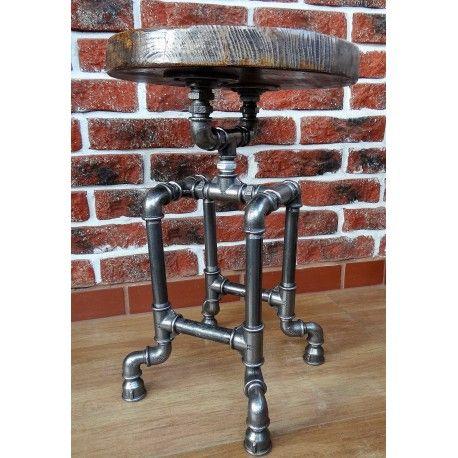 industrial pipe stool, handmade, antiko design , Poland