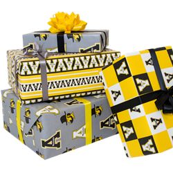 All new Appalachian State wrapping paper! Available at The Bookstore today!
