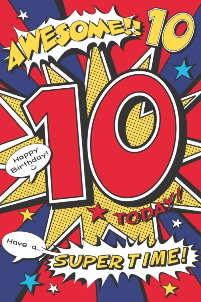image result for happy 10th birthday printable card