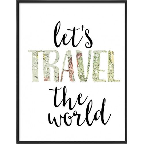Travel quote art print-55