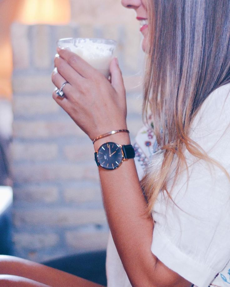Black & Rose gold watch.  Use code PRETTYANDFUN15 for 15% off your order at DanielWellington.com (even sale!)