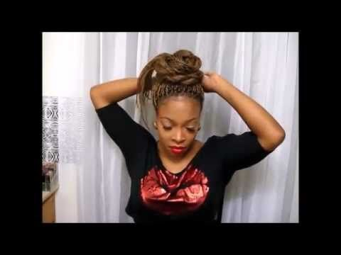 28. | 10 Ways To Style Your Senegalese Twists/Braids Updos Casual & Eleg...