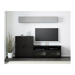 This TV unit has large drawers that make it easy to keep remote controls, game controllers and other TV accessories organized. Adjustable shelves, so you can customize your storage as needed. Cable outlets make it easy to lead cables and cords out the back so they're hidden from view but close at hand when you need them.