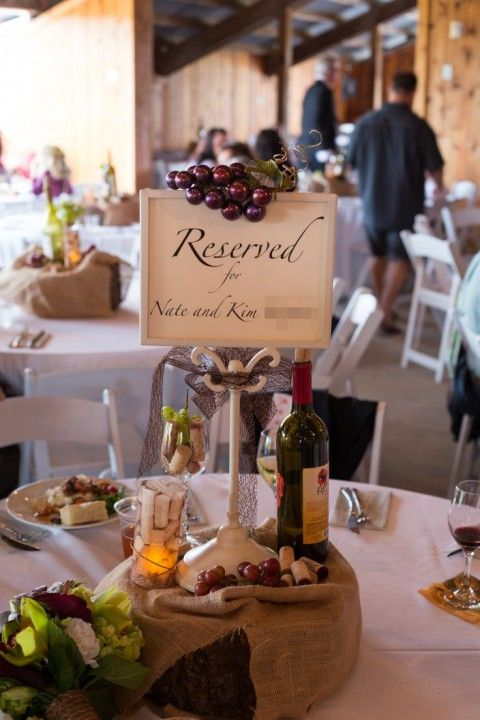 48 best images about vineyard wedding centerpieces on for Wine themed centerpieces