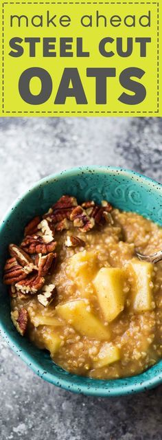 Make these Maple Apple Steel Cut Oats ahead and eat them throughout the week for a healthy, filling breakfast.