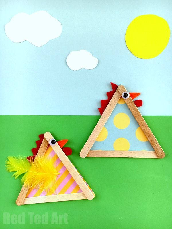 Craft Stick Chicks - adorable chooks for Easter. We did love creating these quirky little Craft Stick chickens. Easy and fun.