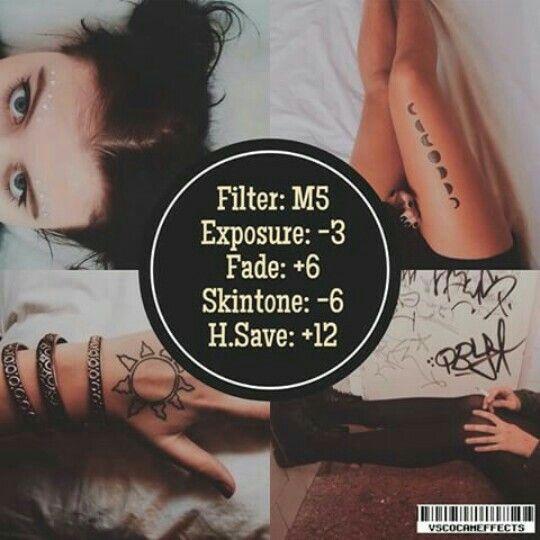 M5 Exposure -3 Fade +6 Skin Tone -6 Highlights Save +12