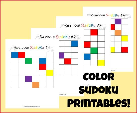 Rainbow Colors Sudoku Logic Game for Kids | School Time Snippets