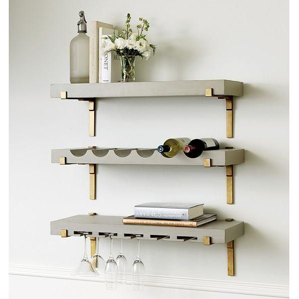 Storage Furniture - With our elegant Giana Shelf, you can create a space-saving vertical bar or dressy open storage anywhere. Hang wine, stem and plate styles in any combination for a custom solution that fits your space and needs.