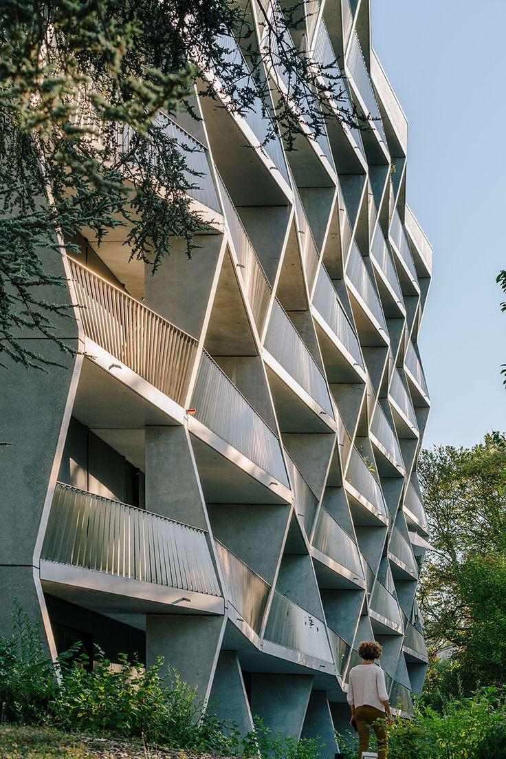 NOMOS builds jolimont residences in geneva using prefabricated concrete modules
