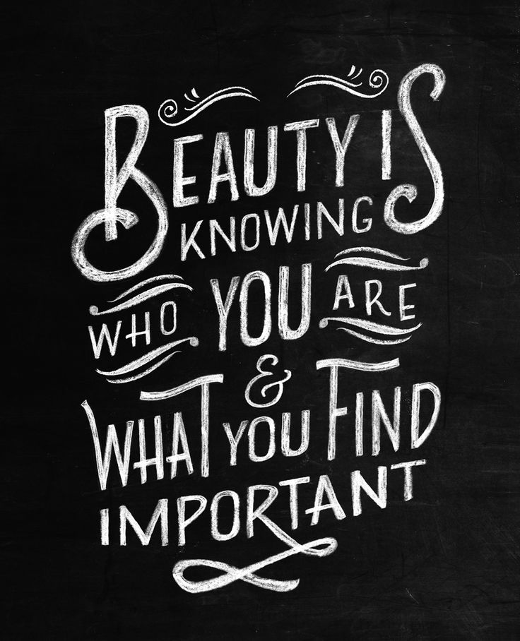 Quote illustratie voor Flow Magazine International. Handlettering chalkboard www.chalkboard.nl More
