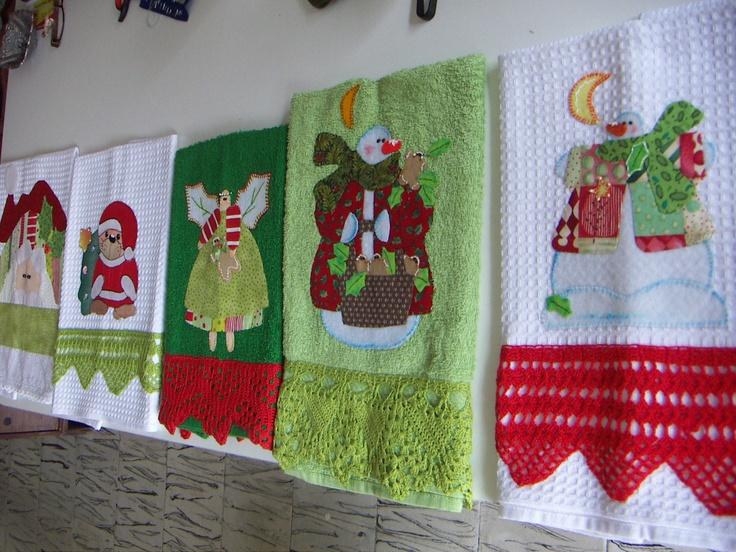 Toallas aplique patchwork christmas pinterest towels - Telas de tapicerias para sofas ...