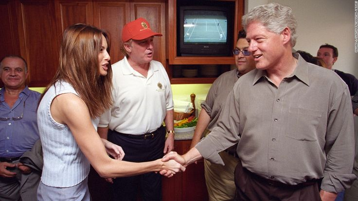 Bill Clinton girlfriends | Newly released photos show how close Bill Clinton once was with Trump ...