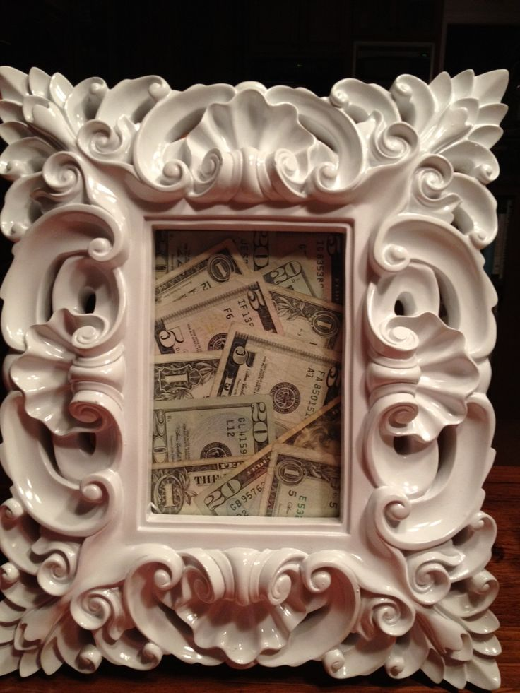 The way to give money for a wedding or with a graduation frame for graduation gift
