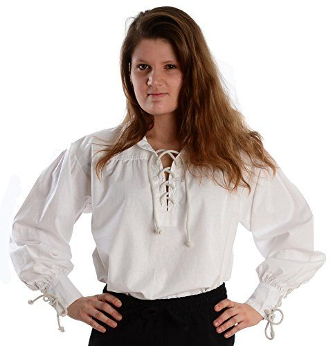 Kragen-Schnürbluse Piraten-Bluse weiß XXXL Baumwolle   http://xxl.damenfashion.net/shop/kragen-schnuerbluse-piraten-bluse-weiss-xxxl-baumwolle/