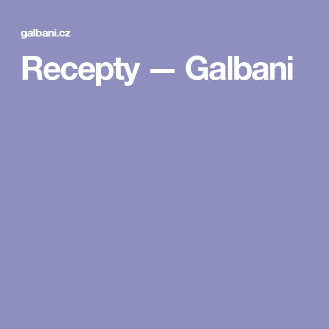 Recepty — Galbani