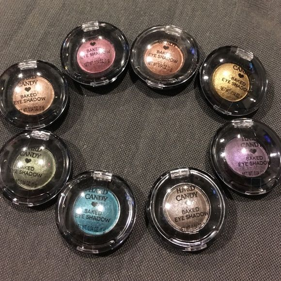 $5 off!!! Hard Candy baked eye shadow Brand new, never used Baked eye shadows by Hard Candy. Great colors for any occasion. Willing to sell individually for $3 each. WILL BE $16 for Easter Sale!! Hard Candy Makeup Eyeshadow