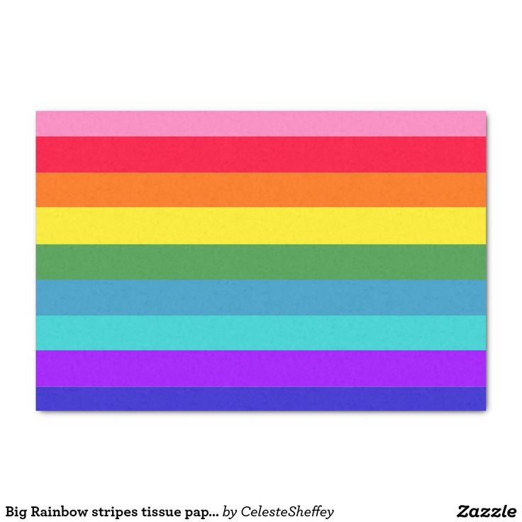 "Big Rainbow stripes tissue paper 10"" X 15"" Tissue Paper"