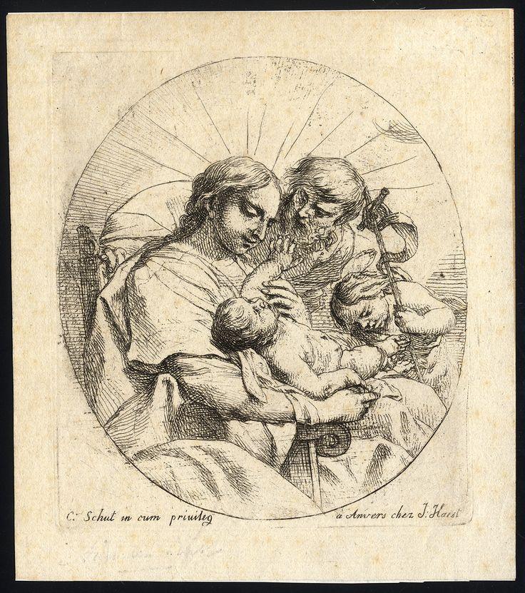 Schut, Cornelis - The Holy Family and John the Baptist, 17th century.