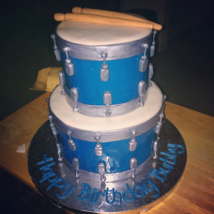 Snare drum birthday cake for my love. Cake by Brendys cakes!! http://www.brendyscakes.com/