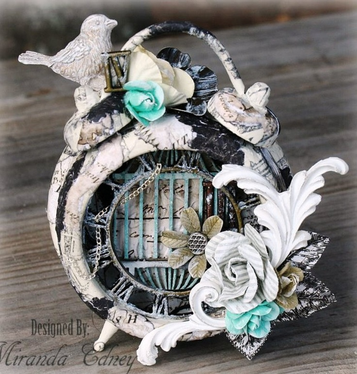 Sweetly scrapped altered clock