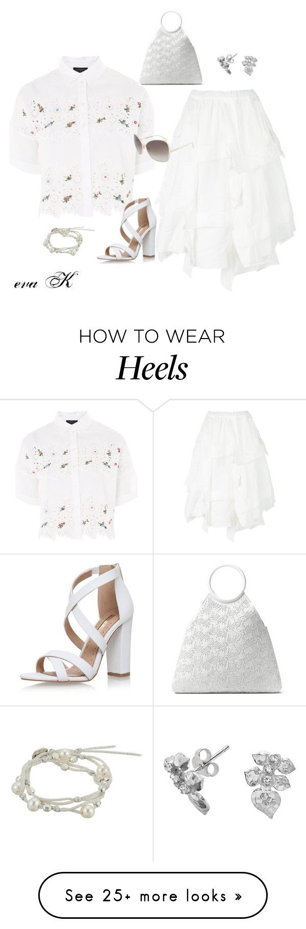 """Summer in white"" by eva-kouliaridou on Polyvore featuring Topshop, Miss KG, Michael Kors, Tom Ford, Dower & Hall and Chan Luu"
