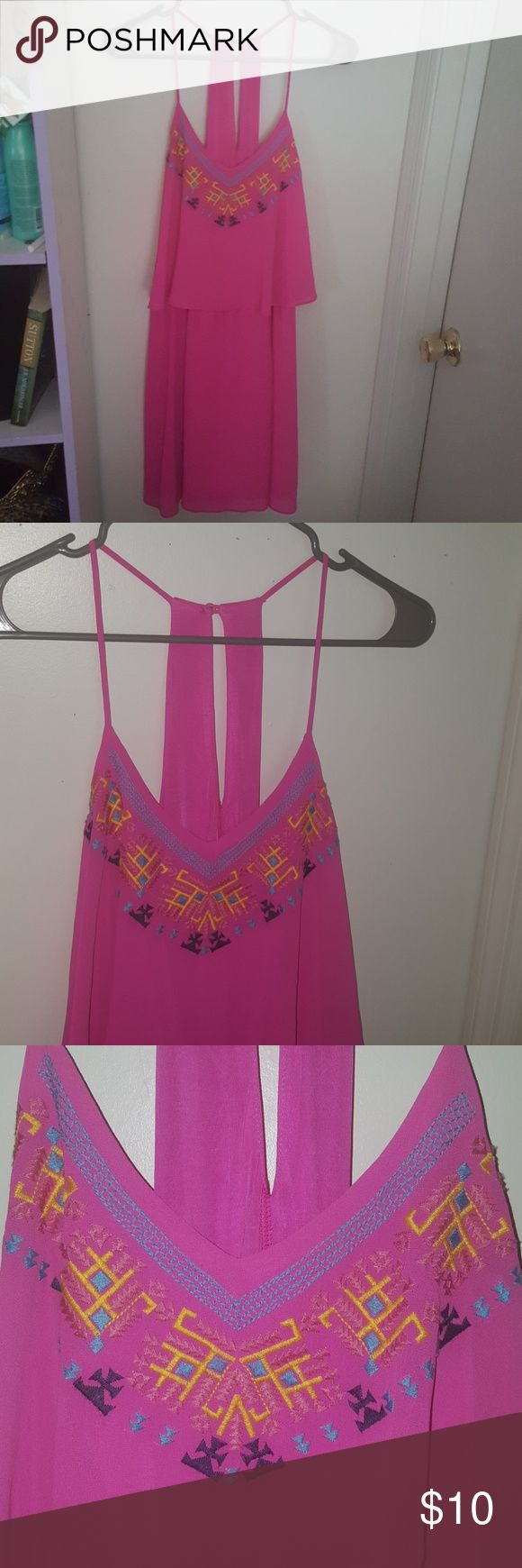 *PRICE DROP* Pink Xhilaration Aztec Mini Dress XXL XXL short pink dress, Aztec Pattern across chest  Be unapologetically bold in this strappy little dress. Xhilaration Dresses Mini