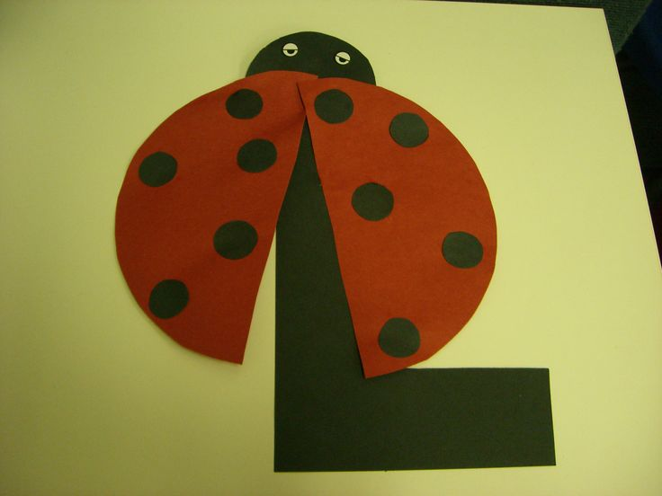 L is for ladybug preschool alphabet craft alphabet art for Arts and craft letters