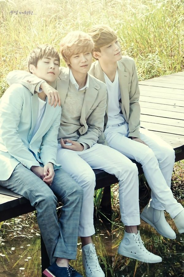 Xiumin, Luhan, and Chen for Nature Republic
