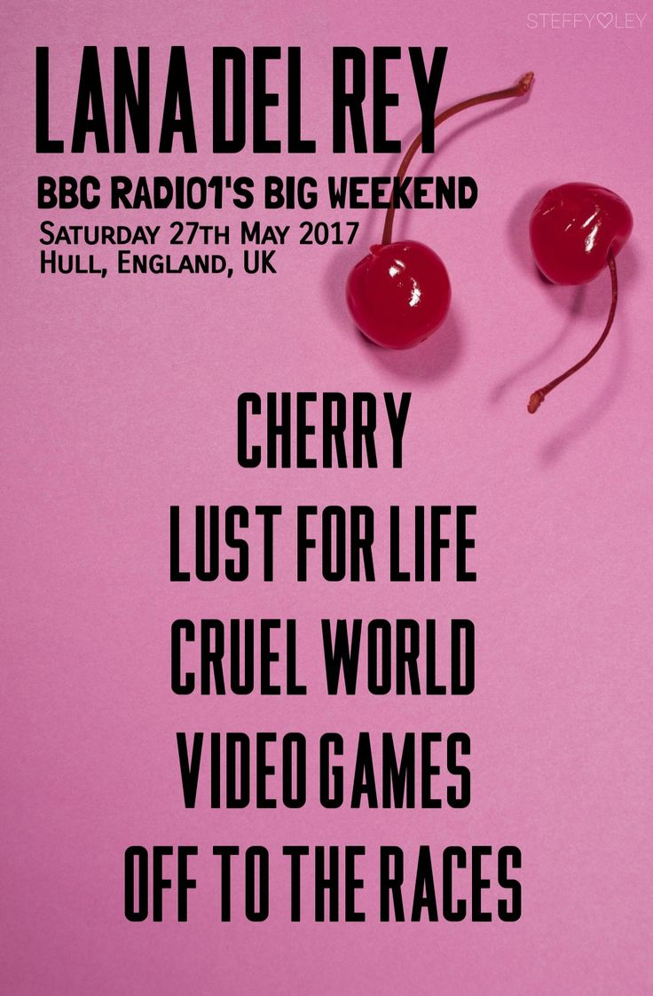 The coloring book tour setlist - Lana Del Rey S Setlist For Bbc Radio1 S Big Weekend Music Festival