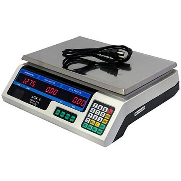 Digital Weight Scale 60 lb Price Computing Food Meat Produce Deli