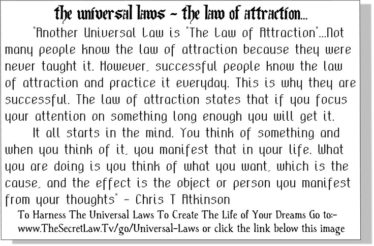 3. {Snippet The Universal Laws - Law of Attraction} - From The Life Changing Universal Laws of Attraction Principles Revealed Audio Report which you can access at the live link attached here..