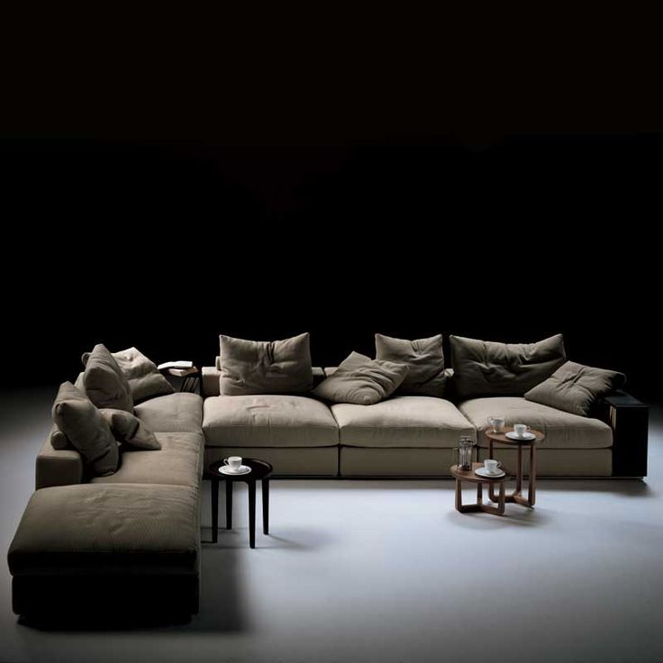 Flexform Groundpiece Sectional Sofa - Flexform Sofa - Modern Sectional Sofas | SwitchModern.com