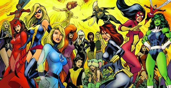 The ladies of Marvel. YAY SHE-HULK!